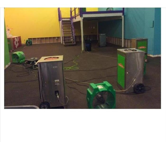 Room with SERVPRO drying equipment
